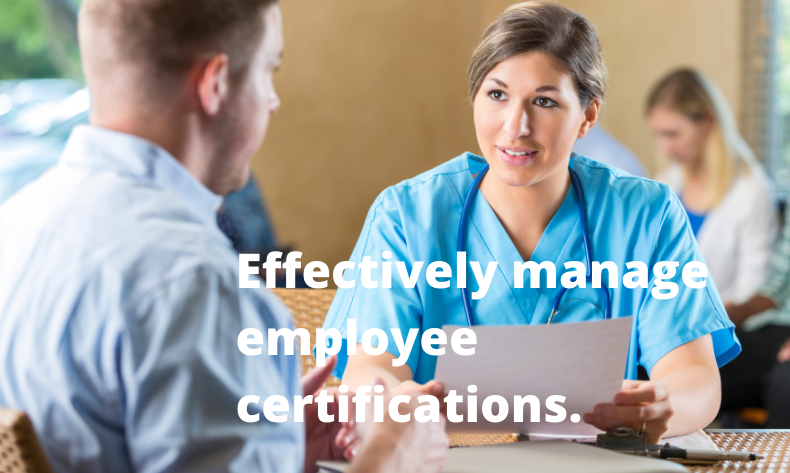 How to track employee certifications
