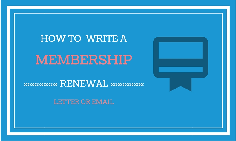 How to write a membership renewal letter and email