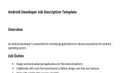 Android Developer Job Description   Expiration Reminder