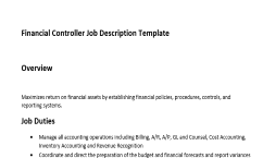 Charming Get The Only Job Description Template For Financial Controller That Has An  Overview, Duties And Responsibilities Of This Role. Nice Design