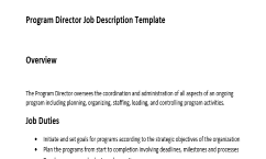 Get The Only Job Description Template For Program Director That Has An  Overview, Duties And Responsibilities Of This Role. This Is The Best Job  Description ...