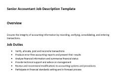 senior accountant job description expiration reminder
