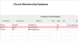 Church Membership Database and Dues Tracker Excel Template
