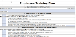 employee training plan excel template expiration reminder