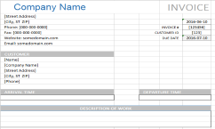 Carpet Cleaning Invoice Excel Template Expiration Reminder