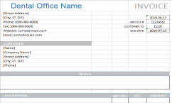 Dental Invoice Excel Template Expiration Reminder - Excel templates invoice