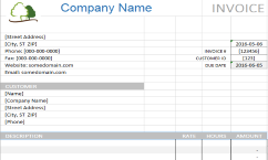 Landscaping Invoice Excel Template Expiration Reminder
